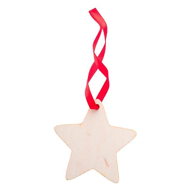 WoXmas vánoční ozdoba, hvězda - multicolor