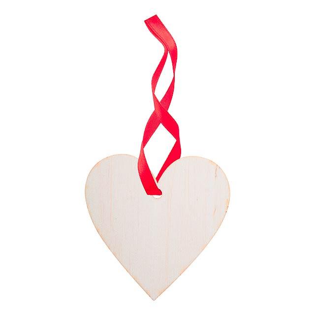 WoXmas vánoční ozdoba, srdce - multicolor