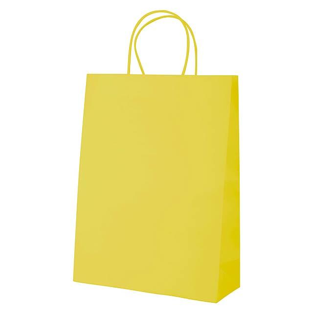 Mall papírová taška - žlutá
