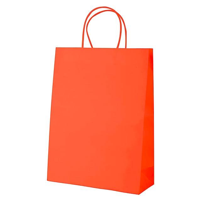 Mall papírová taška - oranžová