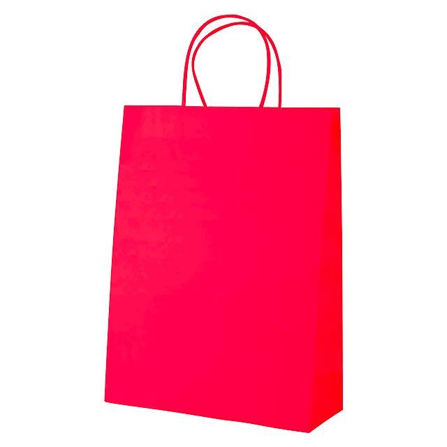 Mall papírová taška - červená