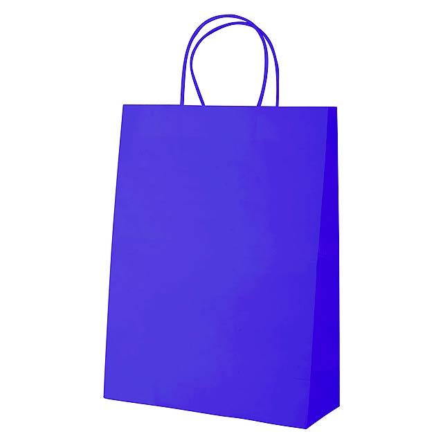 Store papírová taška - modrá