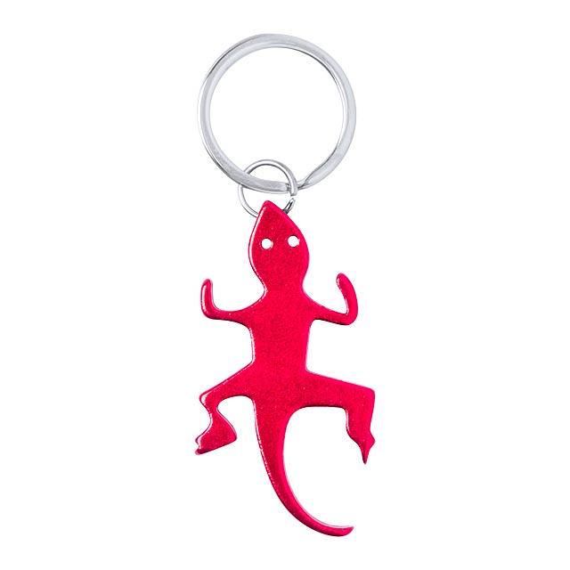 Ibik přívěšek na klíče s otvírákem - červená