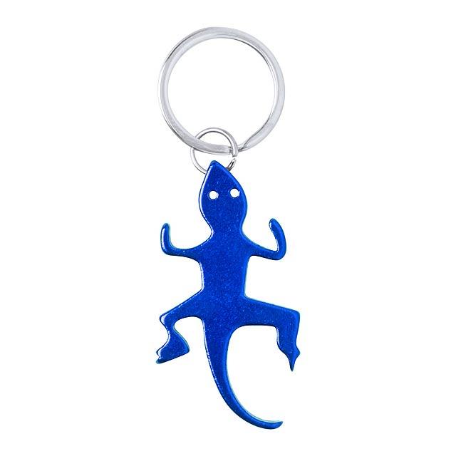 Ibik přívěšek na klíče s otvírákem - modrá