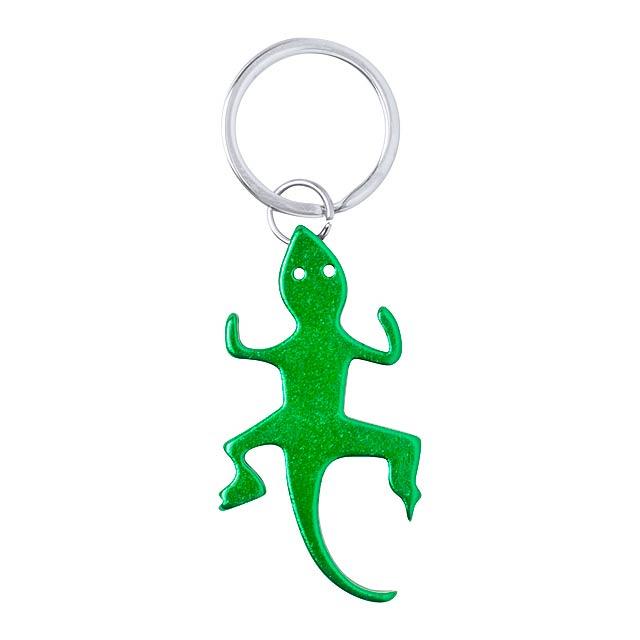 Ibik přívěšek na klíče s otvírákem - zelená