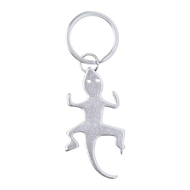 Ibik přívěšek na klíče s otvírákem - stříbrná