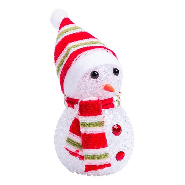 Fadon figurka sněhuláka - červená