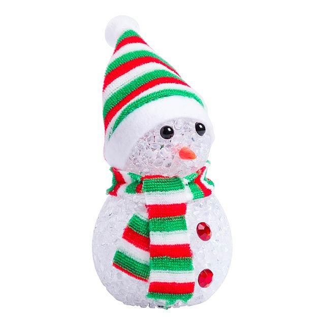 Fadon figurka sněhuláka - zelená