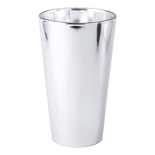 Raptol sklenice - stříbrná