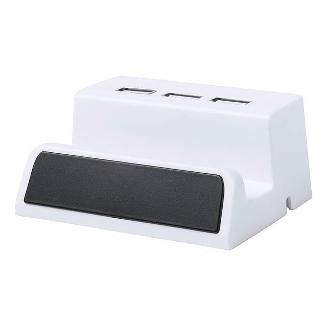 Delawer USB hub - bílá