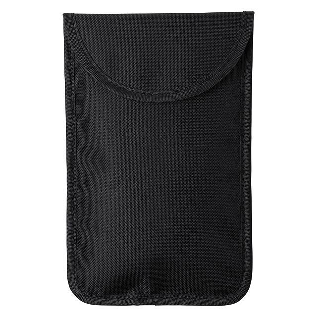 Bezpečnostní pouzdro na mobil a karty s RFID ochranou. - černá - foto