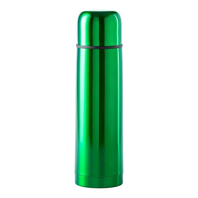 Nerezová termoska, 500 ml. Obsah: 500 ml - zelená - foto