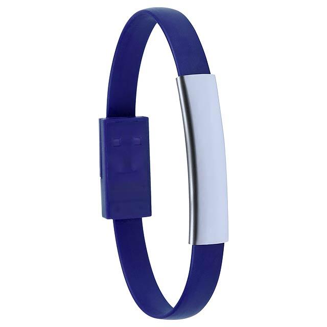 Ceyban náramek s USB nabíjecím kabelem - modrá