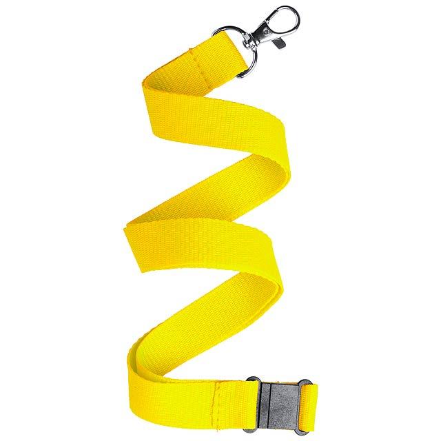 Kappin lanyard - žlutá