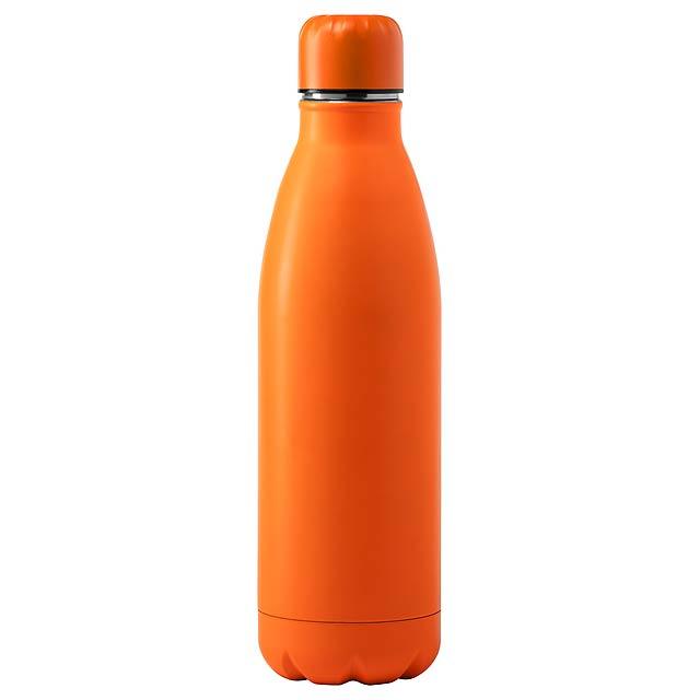 Sportovní láhev z nerez oceli, 790 ml. V dárkové krabičce. Obsah: 790 ml - oranžová - foto
