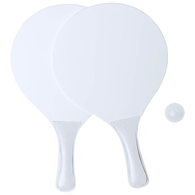 Kongal plážový tenis - bílá
