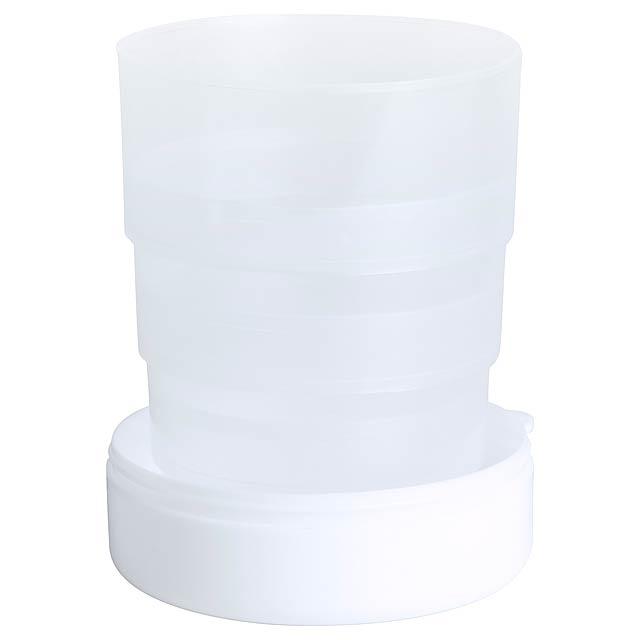 Berty skládací pohárek - bílá