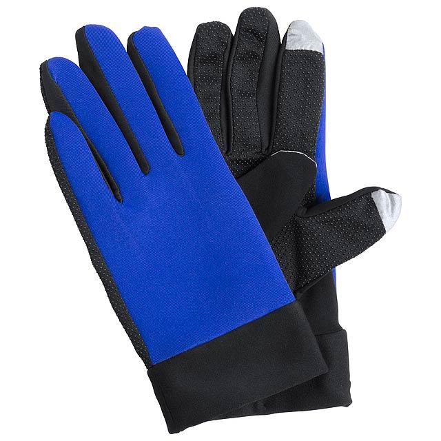 Vanzox dotykové sportovní rukavice - modrá