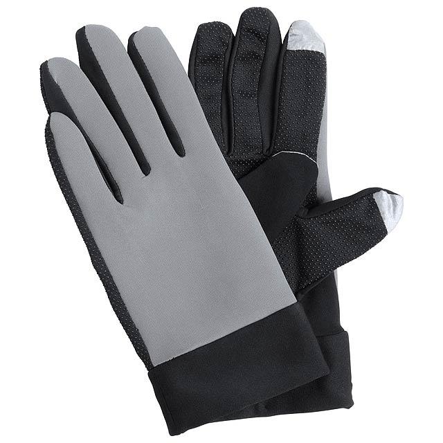 Vanzox dotykové sportovní rukavice - šedá