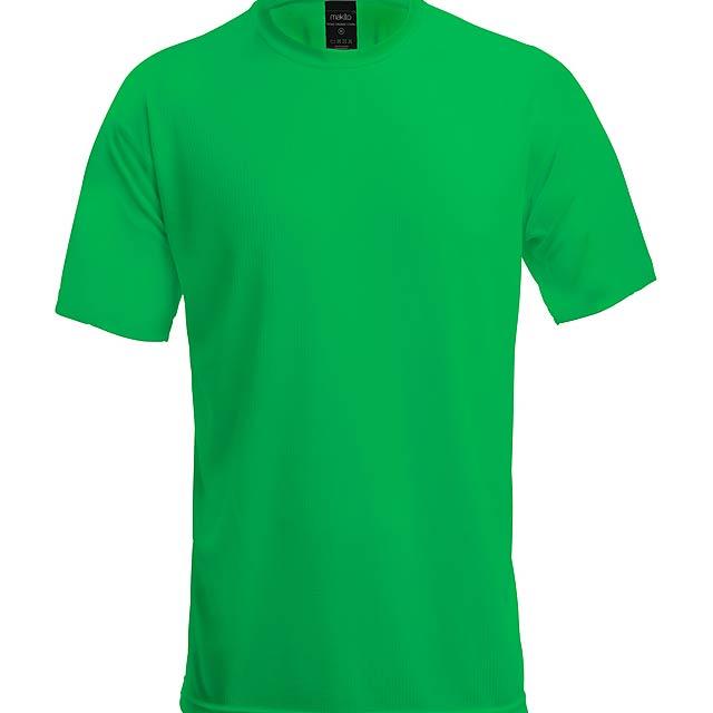 Sportovní prodyšné tričko, 100% polyester, 125 g/m². - zelená - foto