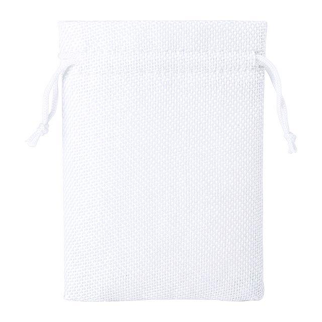 Dacrok polyesterový pytlík - bílá