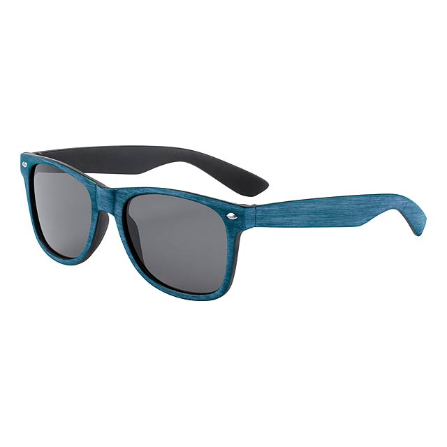 Plastové sluneční brýle s UV 400 ochranou. - modrá - foto