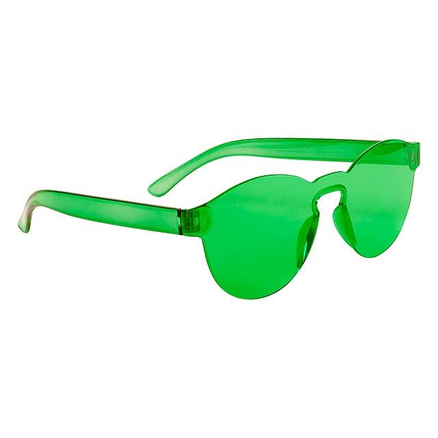 Plastové sluneční brýle s UV 400 ochranou. - zelená - foto