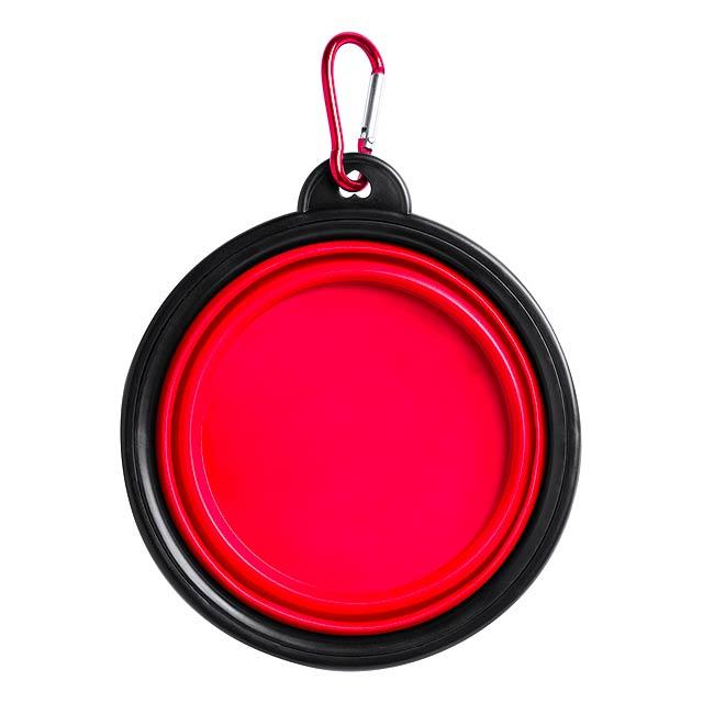Baloyn skládací miska pro psy - červená