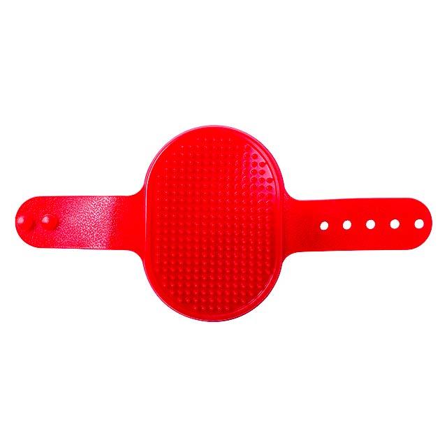 Weton kartáč pro zvířata - červená