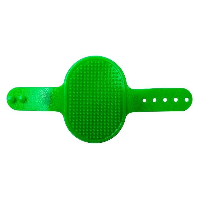 Weton kartáč pro zvířata - zelená