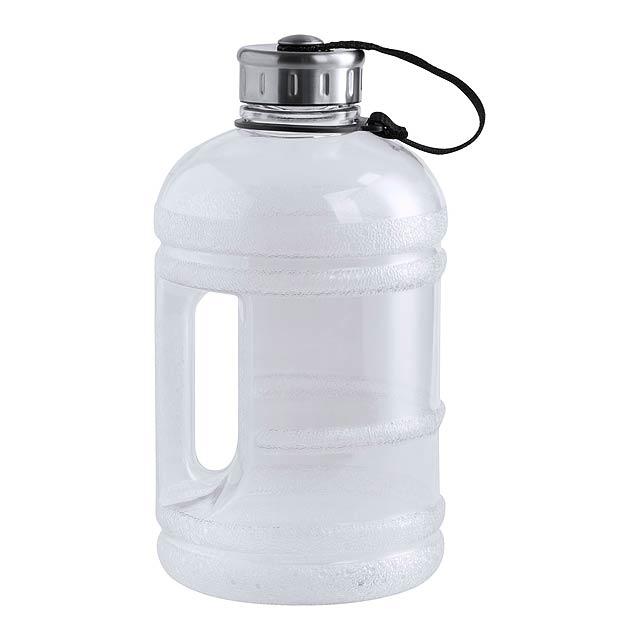 PET sportovní láhev na pití s držadlem a víčkem, 1890 ml. Obsah: 1890 ml - bílá - foto
