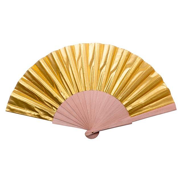 Mikar vějíř - zlatá