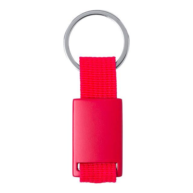 Slayter přívěšek na klíče - červená