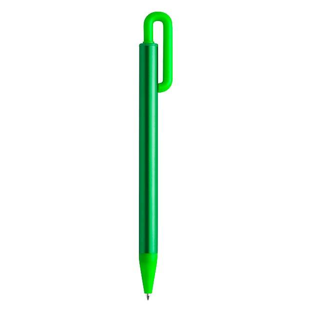 Hliníkové kuličkové pero. - zelená - foto