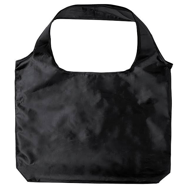 Skládací nákupní taška, 190T polyester. - černá - foto