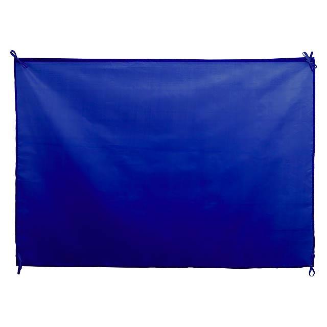 Velkoformátová polyesterová vlajka s odolnými barevnými popruhy. - modrá - foto