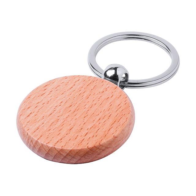 Přívěšek na klíče z překližky z břízy. - multicolor - foto