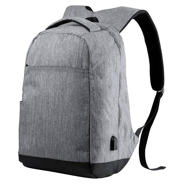 Voděodolný batoh s ochranou proti krádeži s několika přihrádkami na zip, polstrovaným prostorem pro laptop (15