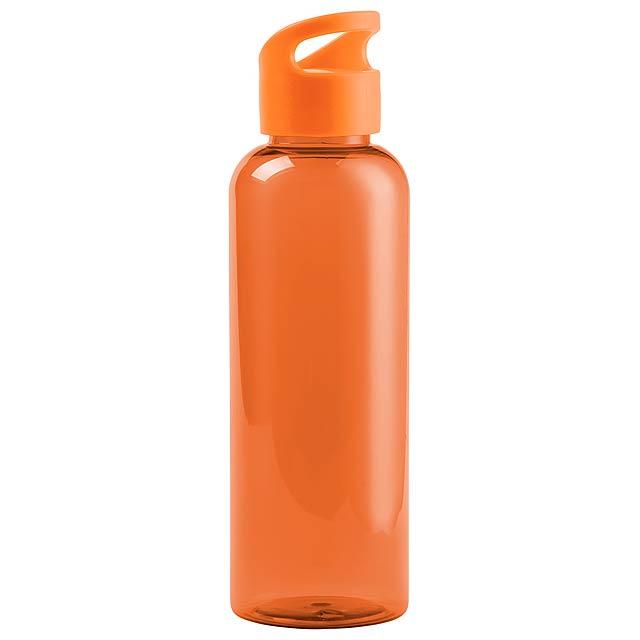 Transparetní sportovní láhev z tritanu na pití, bez BPA, 530 ml. Obsah: 530 ml - oranžová - foto