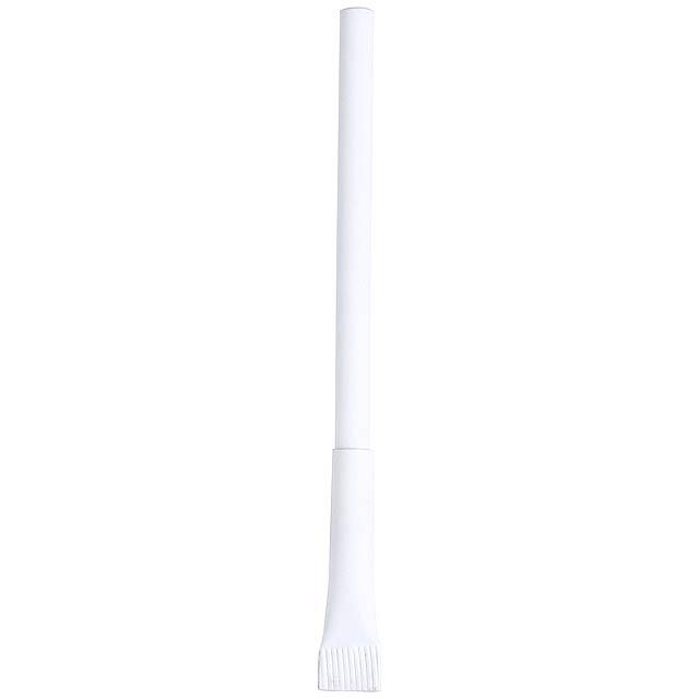 Valvek recyklované papírové kuličkové pero - bílá