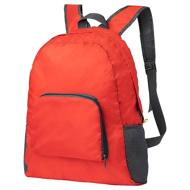 Mendy skládací batoh - červená