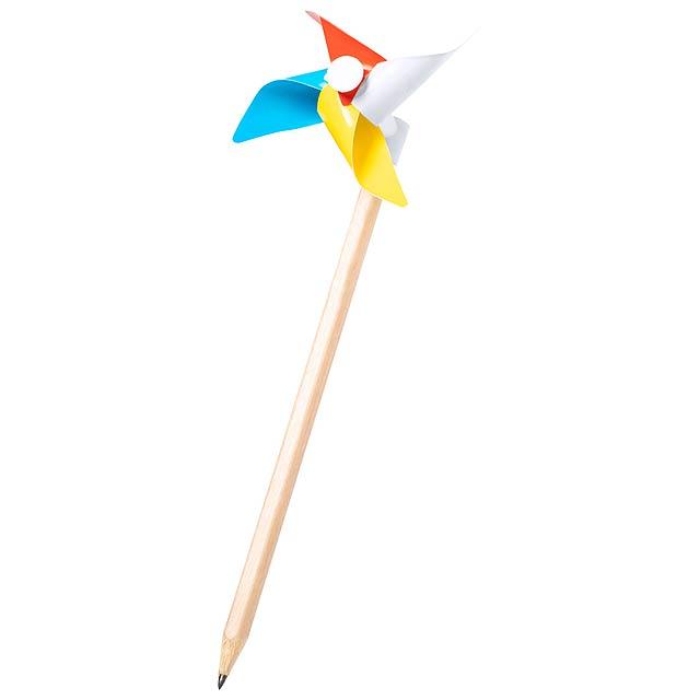 Zhilian tužka s větrníkem - multicolor