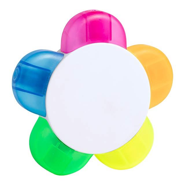 Hinterer Textmarker - multicolor
