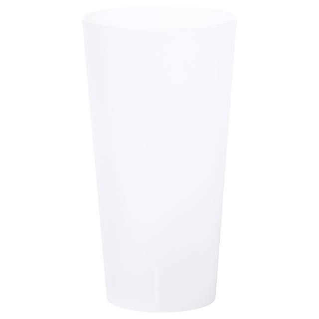 Yonrax pohárek na pití - transparentní