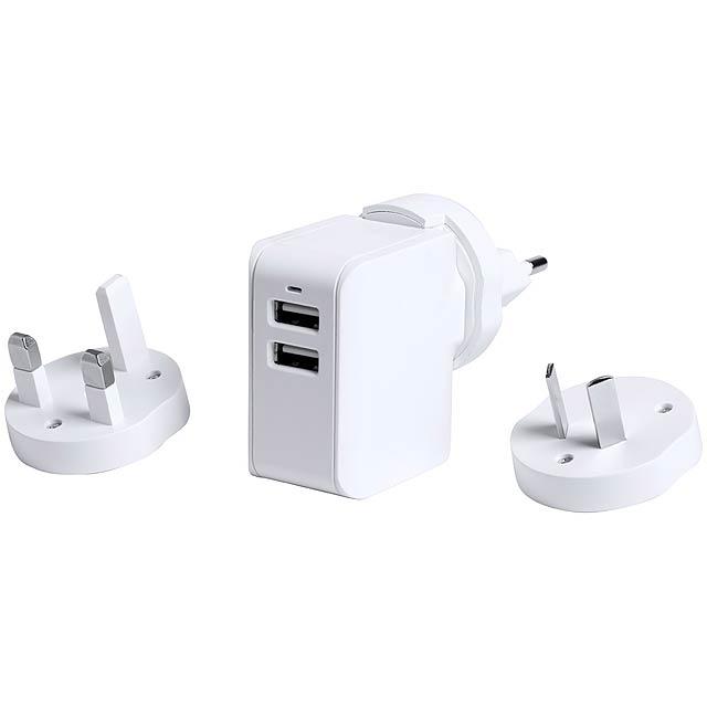 Duban cestovní USB nabíječka - bílá