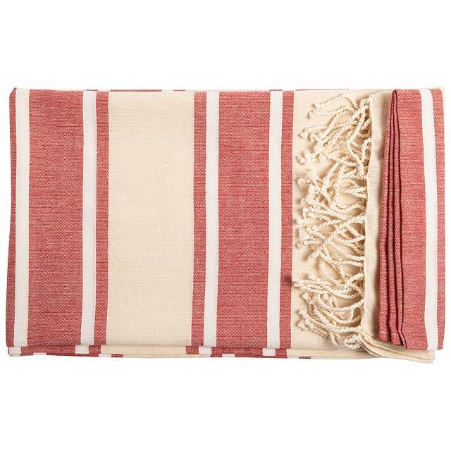 Yistal plážový ručník - červená