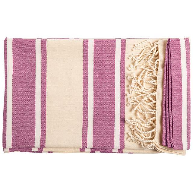 Yistal plážový ručník - růžová