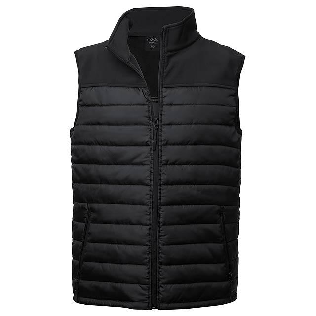 Bordy softshellová vesta - černá