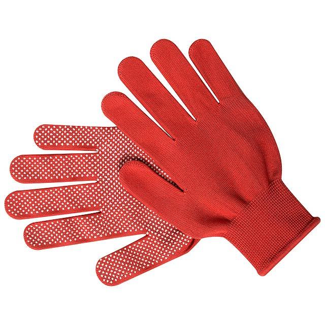 Hetson rukavice - červená