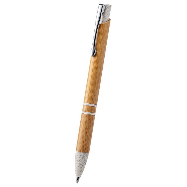 Lettek bambusové kuličkové pero - béžová